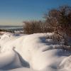 """Snow Drifts on Cape Cod Bay"" , photography by Anita Winstanley Roark.  Contact us for edition and size availability."