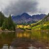 """Mountain Gold, Maroon Bells"", photography by Anita Winstanley Roark.  Contact us for edition and size availability."
