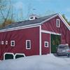 """Barn 2, private commission"", 5"" x 7"", oil on panel, Robert K. Roark., SOLD"