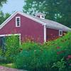 """Barn 3, private commission"", 5"" x 7"", oil on panel, Robert K. Roark., SOLD"