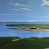 """Path to the Sea"" , a view of Boat Meadow Beach, Eastham, MA, 24 x 47, oil on canvas, commissioned painting by Robert K. Roark, SOLD"